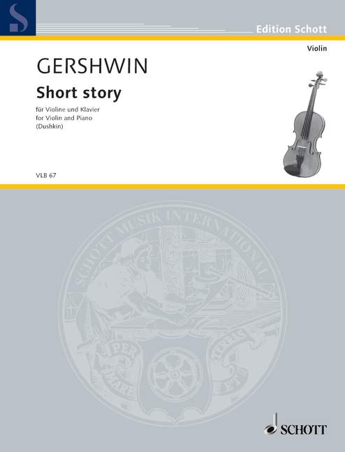 Short story Gershwin George violin and piano 9790001103145